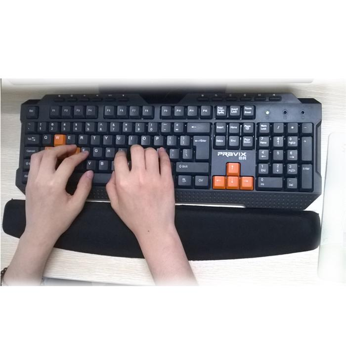 Keyboard wrist rest pad